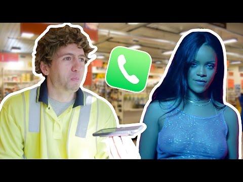 Prank CALLING Hardware Store with Rihanna 'WORK' Lyrics ft. Drake