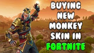FORTNITE: BUYING THE NEW MONKEY KING SKIN!! (Wukong)