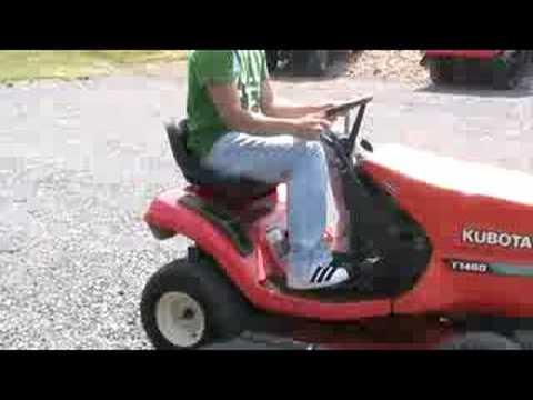 Kubota Riding Mower T1460 YouTube