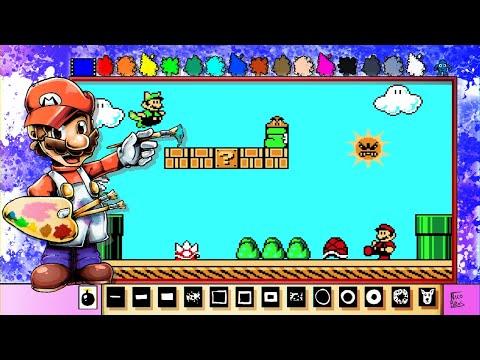 Mario Paint Creations - Super Mario Bros. 3 Pixel Art Scene