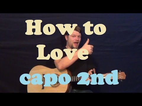 How to Love (Lil Wayne) Easy Guitar Lesson Strum Chords How to Play ...