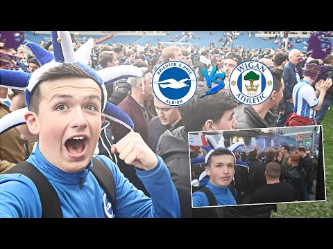 THE MOMENT BRIGHTON GOT PROMOTED TO THE PREMIER LEAGUE!!