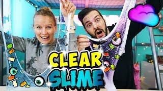 CLEAR SLIME CHALLENGE Schleim mit GUTEN & SCHLECHTEN Zutaten vermischen! Wer gewinnt? Kathi vs Kaan
