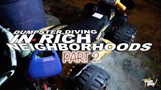 Dumpster Diving In Rich Neighborhoods Part 2 - TRASH TO CASH | OmarGoshTV