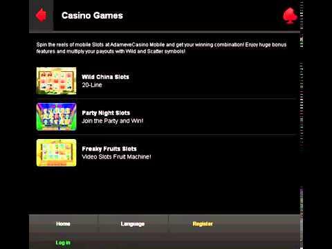 Adam Eve Mobile Casino Free 50 No Deposit Casino Bonus40 Youtube