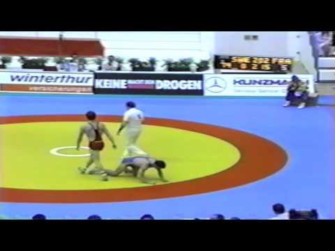 1991 Senior European Greco Championships: 74 kg Torbjoern Kornbakk (SWE) vs. Yvon Riemer (FRA)