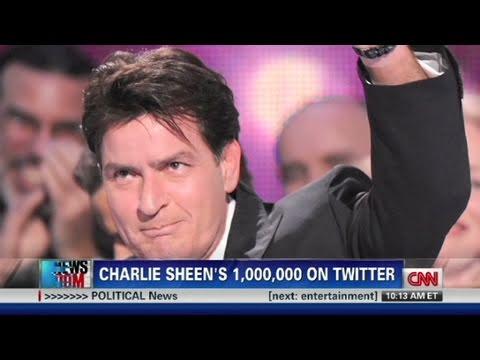 CNN: Charlie Sheen's million on Twitter