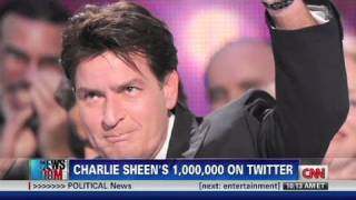 CNN: Charlie Sheen's million on Twitter thumbnail