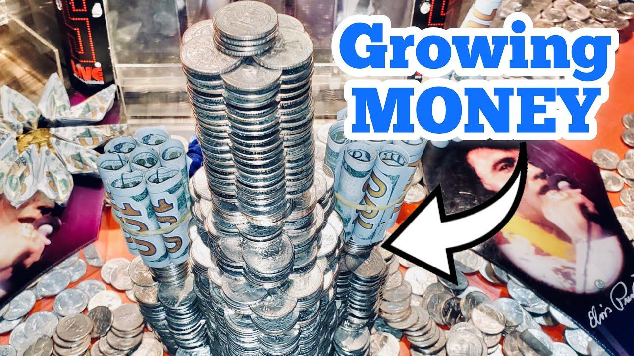 GROWING MONEY Inside The High Limit Coin Pusher Jackpot WON MONEY ASMR