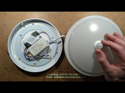 Shady PIR Ceiling Light Analysis.  (With Flame Test.)