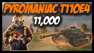 ► World of Tanks: Pyromaniac T110E4 - 11,000 Damage with Crazy Fires!