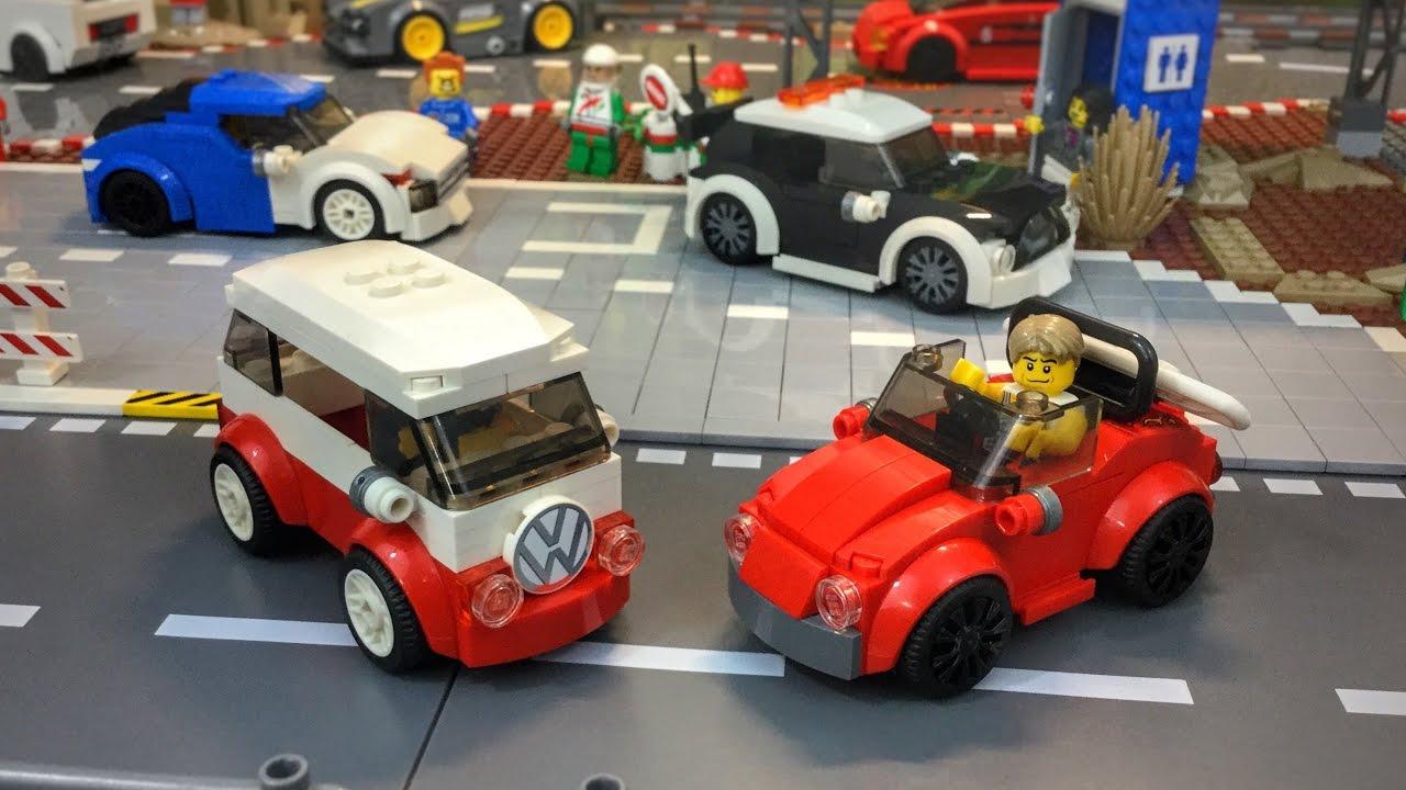 Lego City Moc Cars Volkswagens Youtube