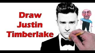 How to Draw Justin Timberlake Step by Step Drawing Tutorial