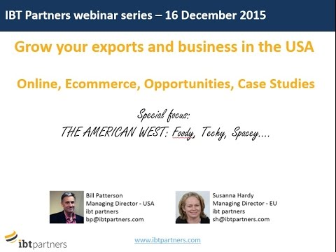 Webinar: Grow your exports and business in the American West