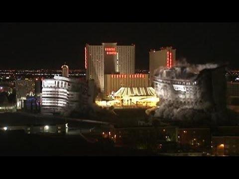 Controlled Implosion Flattens Las Vegas Casino