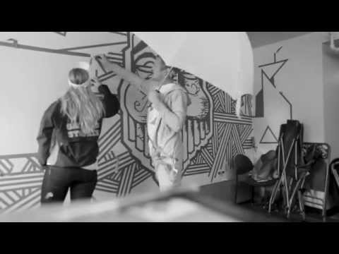 Blue Tape Art -Gats Graffiti against the system tribute  - Milky Chance - flashed junk