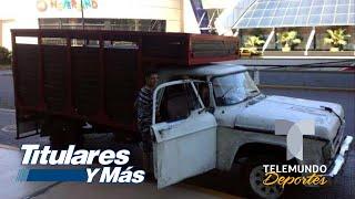 El camión de carga que le mandaron al Tri en Argentina | Telemundo Deportes