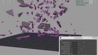 Maya MEL AutoExplode Script
