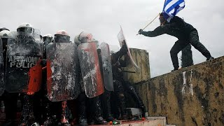 Greeks protest at Macedonia name deal