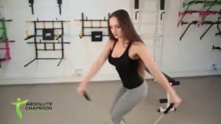 Эффективные упражнения на диске здоровья с эспандером