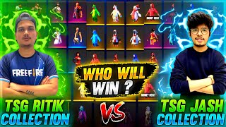 Free Fire Best Collection Versus Between Ritik And Jash ||  Face 2 Face Battle - Two Side Gamers