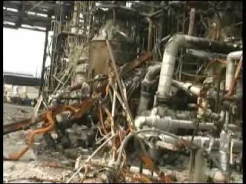Tour of Bayer Plant after Explosion and Fire