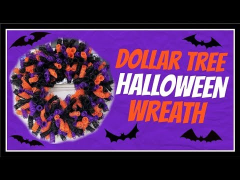 11 Dollar Tree Diy Deco Mesh Halloween Wreath Tutorial