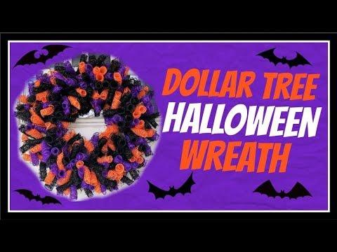11 Dollar Tree Diy Deco Mesh Halloween Wreath Tutorial Youtube