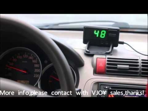 C60 Universal Auto Vehicle GPS HUD Speed Odometer Head UP Display Digital Car Speedometer