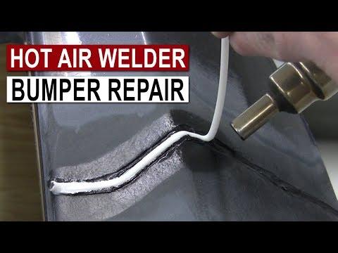 Bumper Repair with Hot Air Plastic Welder