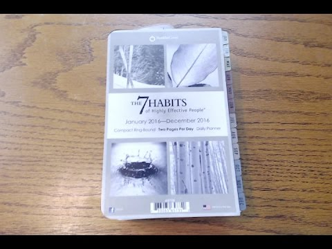 Franklin Covey 7 Habits Planner Inserts