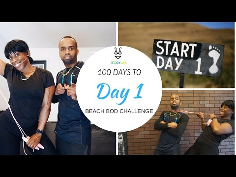 20 min HIIT Tabata Bodyweight Workout for Fat Loss and Abs   Day 1 - 100 Day to Beach Bod Challenge