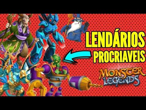 TODOS OS LENDÁRIOS PROCRIAVEIS DO MONSTER LEGENDS E SUAS COMBINAÇÕES!! Atualizado 2018🔴
