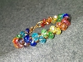 bracelets with colorful crystal - How to make wire jewelery 209