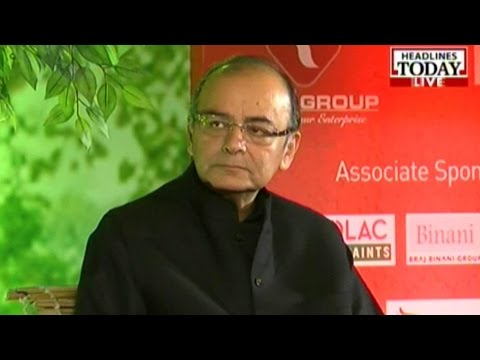 Agenda Aaj Tak: FM Arun Jaitley talks about the black money issue (Pt 1)