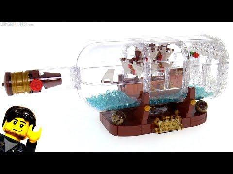 LEGO Ideas Ship in a Bottle review ⚓ 21313