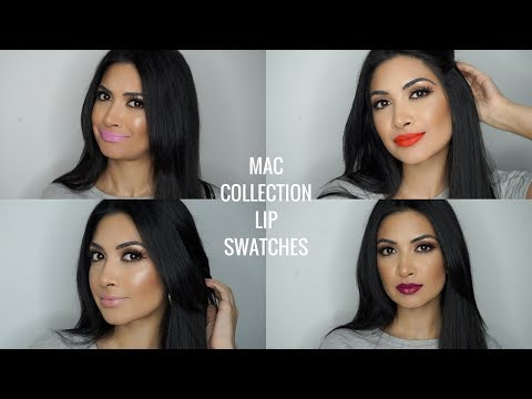 CLASSIC MAC LIPSTICK COLLECTION | LIP SWATCHES | thatmaragirl