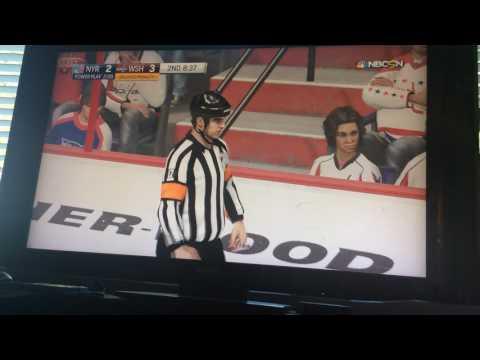 NHL 17 Xbox one Washington Capitals vs New York Rangers.