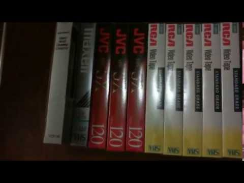 VHS cassettes, lot of 9 and nortronics video head cleaning cassette