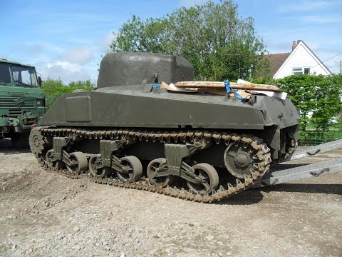 """Fury"" Film M4A4 Sherman Tank Rebuild after Tiger 1 Hit. Part 2"