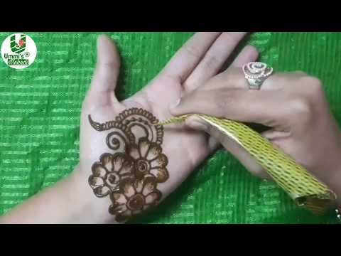 New Year mehndi design for front hand