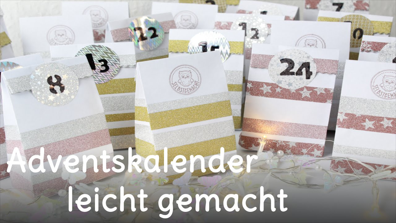 diy adventskalender selber machen adventskalender basteln youtube. Black Bedroom Furniture Sets. Home Design Ideas