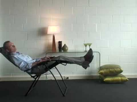 lafuma outdoor zero gravity recliner from bad backs youtube. Black Bedroom Furniture Sets. Home Design Ideas