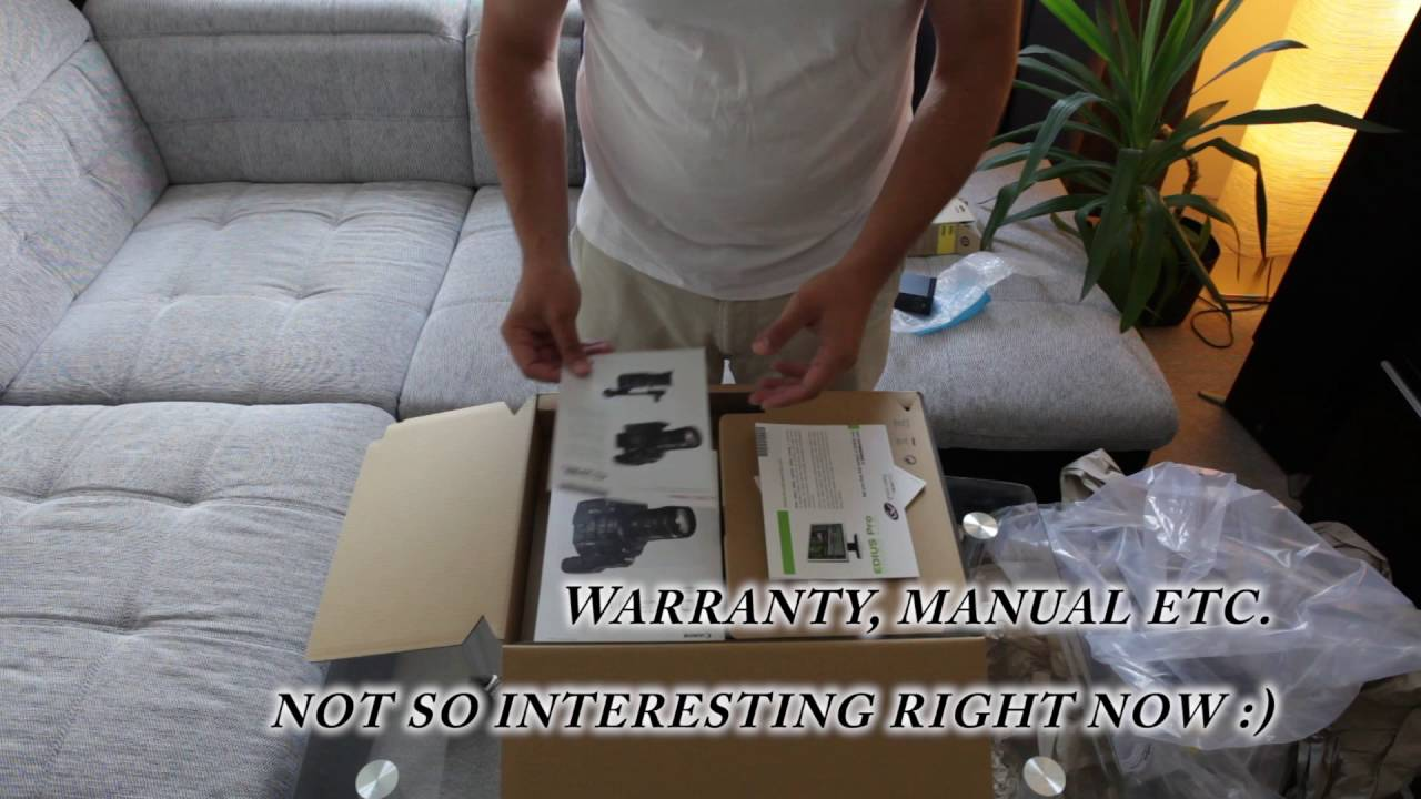 Unboxing Canon C300 Mark II + Accessories