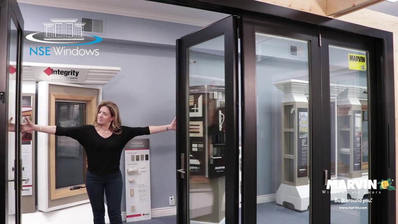 New Marvin Clad Ultimate Bi Fold   Hereu0027s A Glimpse. Stop In To See The New Door  In Action.
