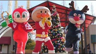 アンパンマンショー 【アンパンマンのクリスマスショー! サンタのアンパンマン登場】 ばいきんまんとドキンちゃんかわいい♪ カレーパンマンはお休み 最前列高画質 Anpanman kidsshow