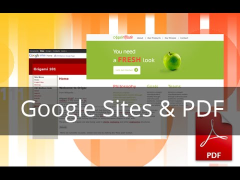 Cómo incrustar un archivo PDF en Google Sites - YouTube