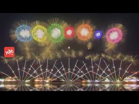 World's First Patented Fireworks at Japan (Mount Fuji) | Jap