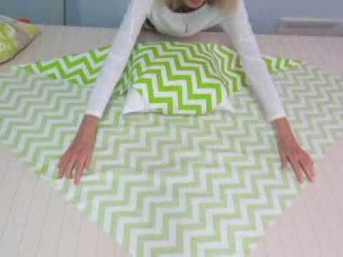 No Sew Pillow Cover - YouTube