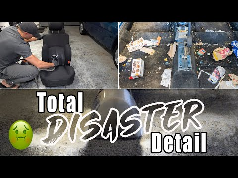 DISASTER Car Detailing | Deep Cleaning Dirtiest Car Interior and Complete Vehicle Transformation